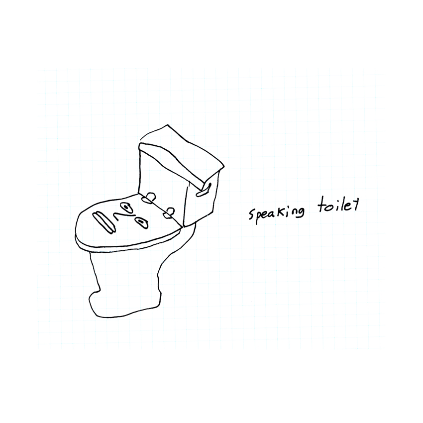 speaking toilet