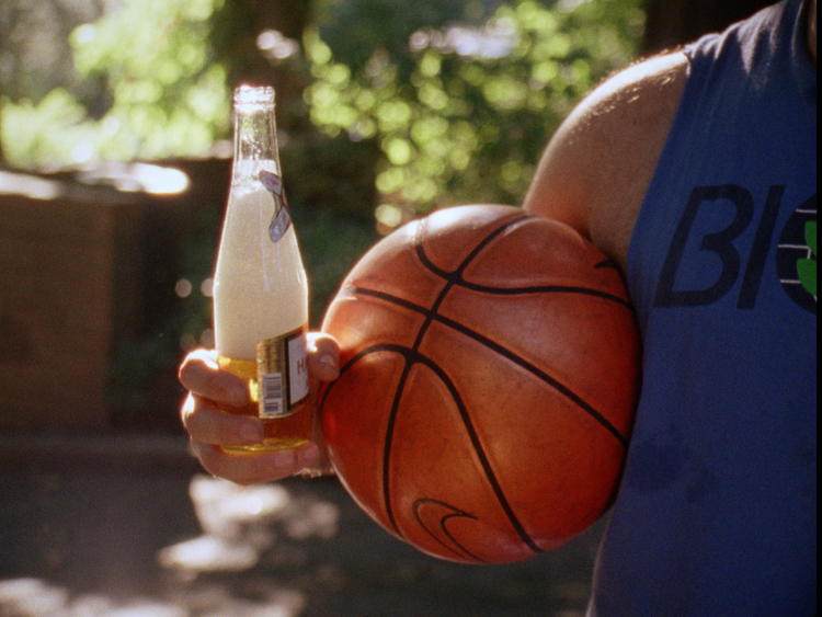 L4L_Beer and Ball - A scene from Lev Kalman and Whitney Horn's L FOR LEISURE. Courtesy of Special Affects Films