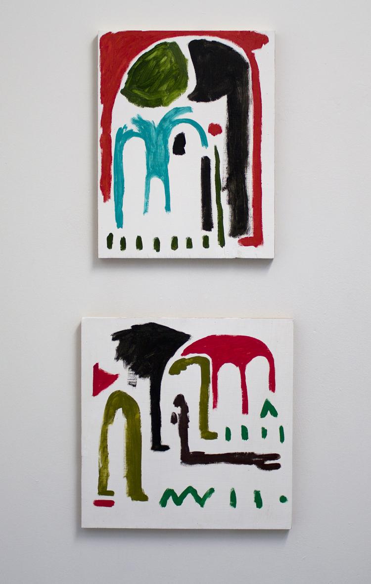 Untitled I 14x14 and Untitled II 12x14