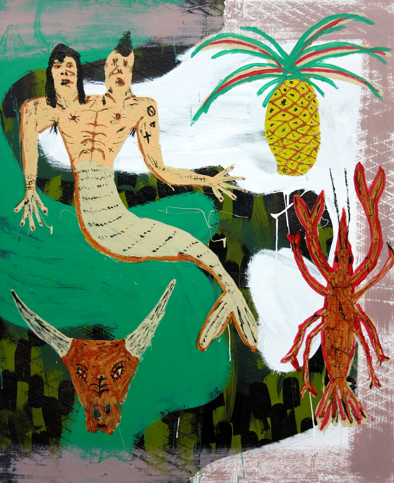 Surf and Turf, acrylic on plywood, 48x40, 2015