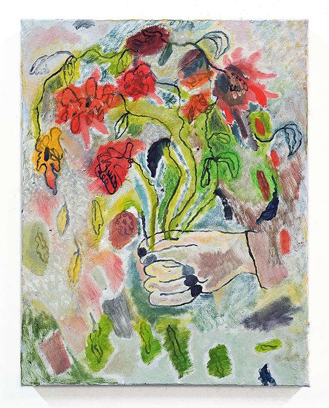 flowers, 2015. oil on canvas, 18x24_