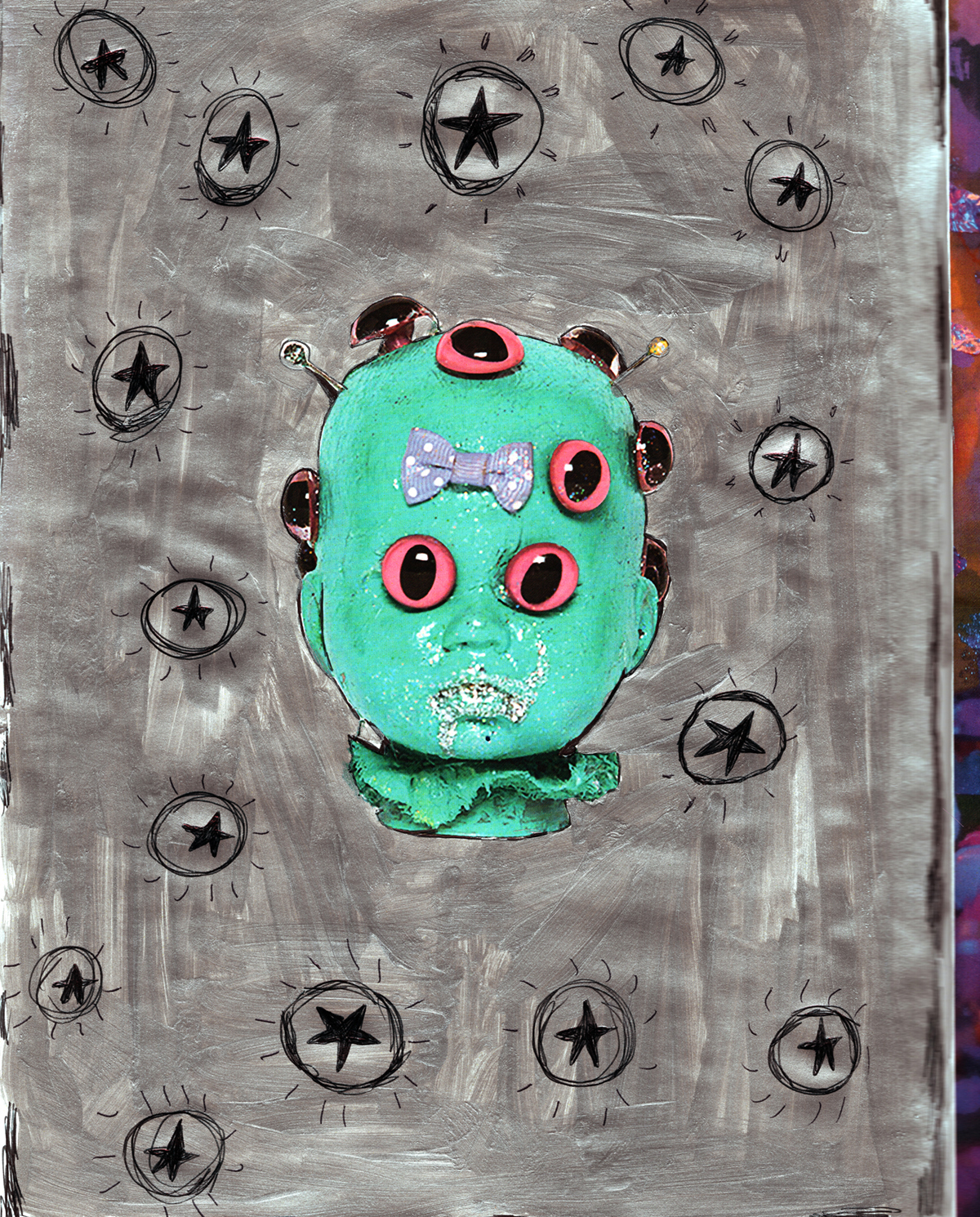 Smile It's Your Birthday_Green Doll Head Page_Claire Christerson