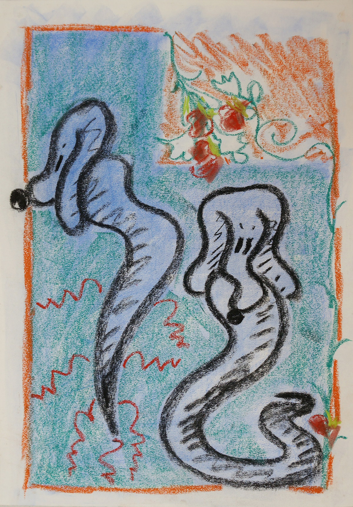 empty your mind wizards_chalk pastel on paper, 2015